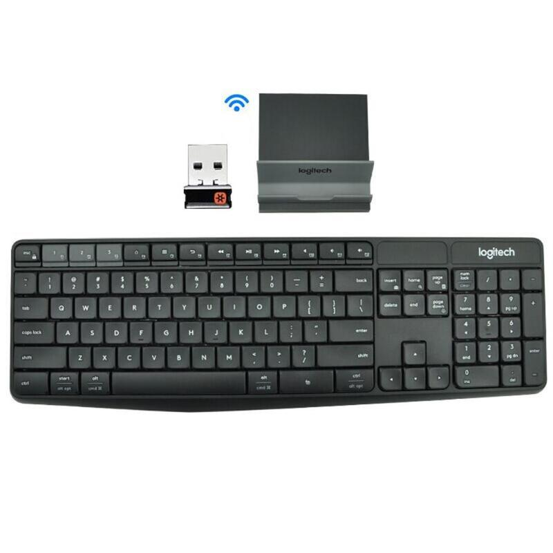 Logitech K375S  Wireless Gaming Keyboard 104 Keys Bluetooth 2.4GHz USB Multi Device Keyboard With Phone Stand