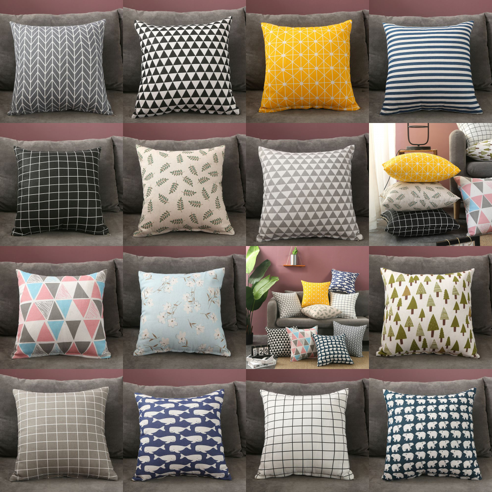 Car Waist Simple Style Special Offer Pillowcase Inserts Four Seasons Double-Sided Pillow Cushion Living Room Sofa Office 45*45
