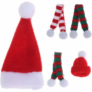 Dollhouse Miniature Accessories Christmas Scarf for Doll Houses Decoration Suitable for 1/6 1/12 Dollhouse image