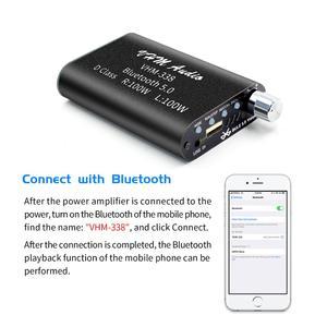 Image 2 - VHM338 Mini Bluetooth 5.0 dijital amplifikatör Hifi Stereo kablosuz ses alıcısı güç amplifikatörü 100W + 100W araba ses amplifikatörler