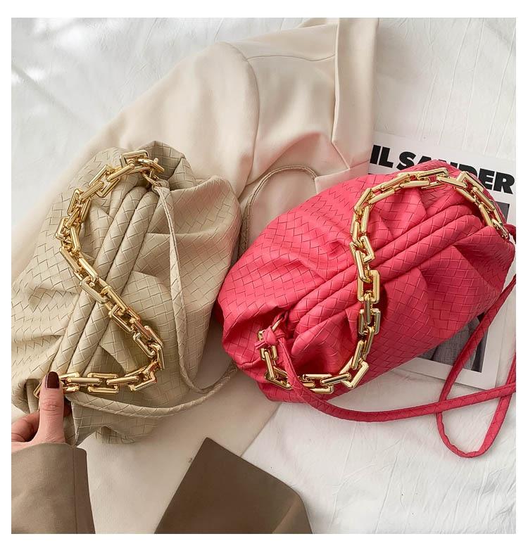 Marca de luxo bolsa feminina couro do
