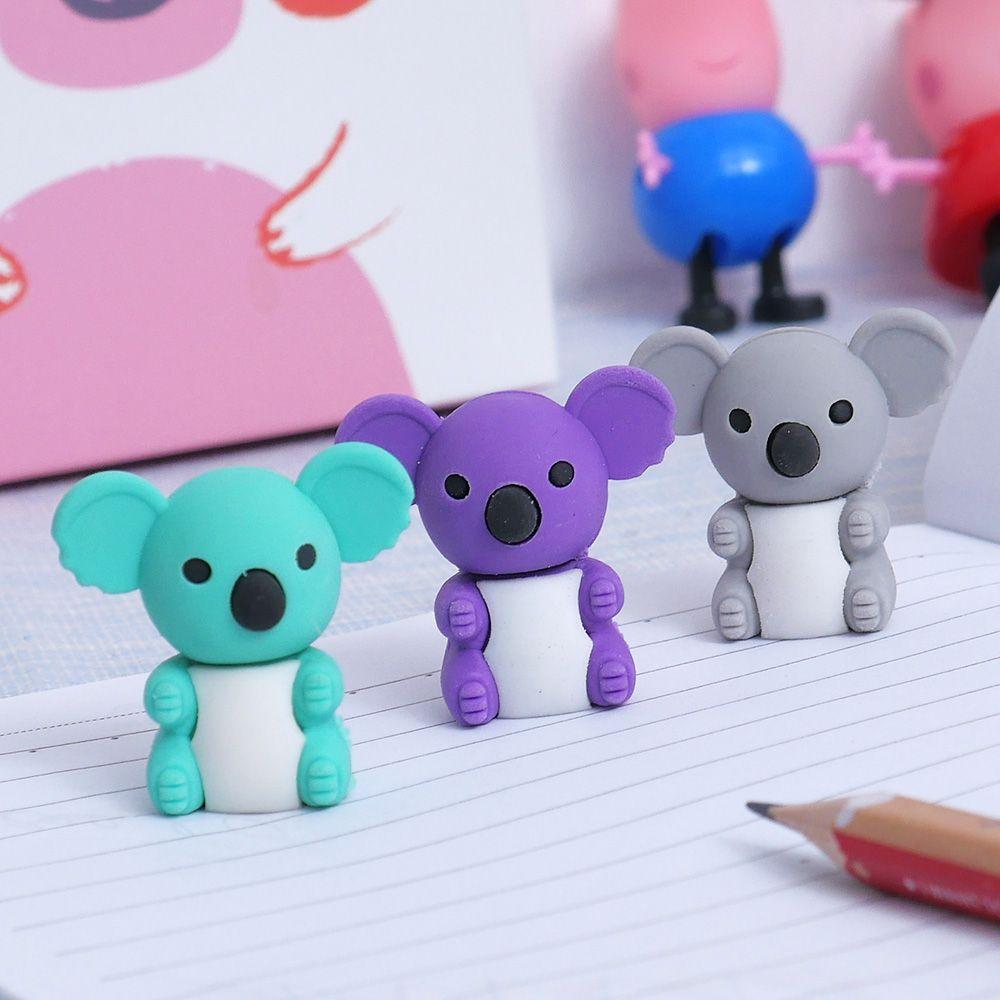 1 PC. Creative Cartoon Cute Koala Animal Rubber Eraser/ Stationery For Children Students/gift Toy Eraser School Office Supplies