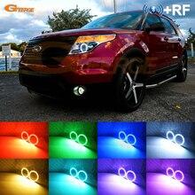 Für Ford Explorer 2011 2012 2013 2014 2015 RF remote Bluetooth APP Multi Farbe Ultra helle RGB LED Engel augen Halo Ring kit