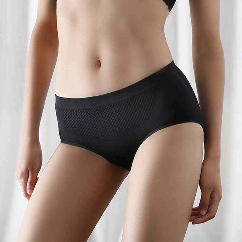 Ladies Panties Arrival Push Up Super Elastic Sexy Ladies Mid Rise Transparent Panties Seamless Briefs Underwear Plus Size