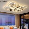 Серые и белые прямоугольные современные светодиодные потолочные лампы для гостиной  спальни  студии  креативные современные потолочные ла...