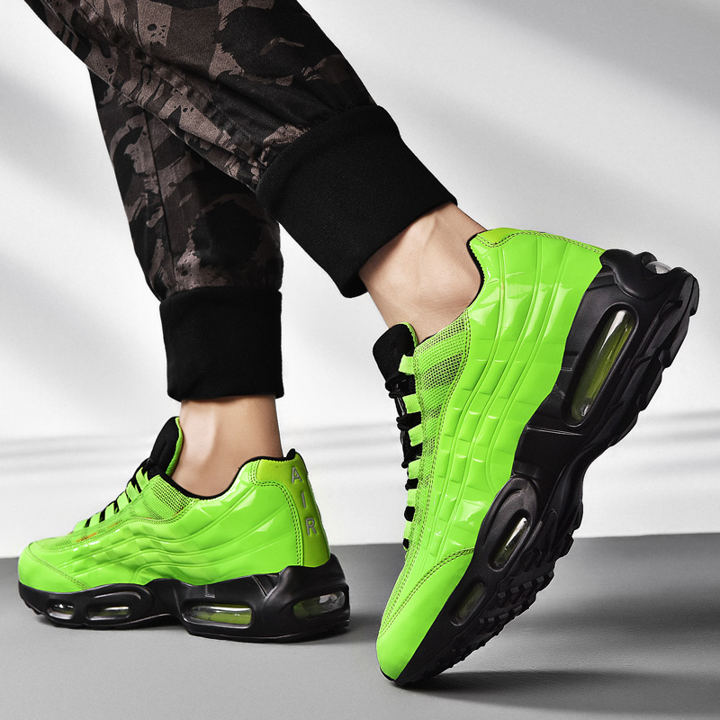 Air Cushion Men Jogging Running Shoes Colorful Sport Trainers Big Size 39-47 Trail Runnig Sneakers Cool Mens Trainers Runners