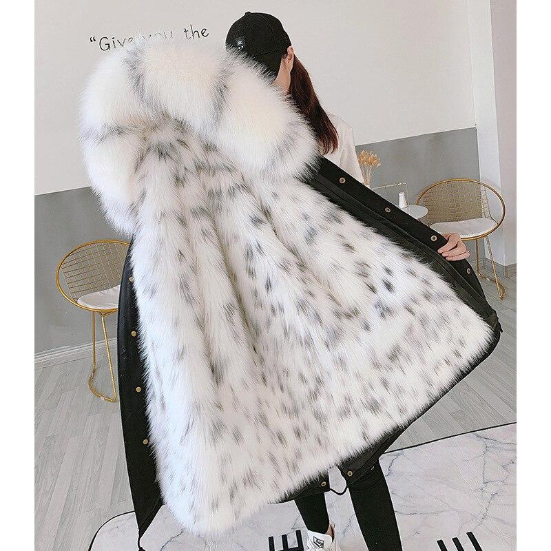 Moda inverno grosso superar casaco de inverno feminino 2019 novas roupas de família mãe e filha jaqueta de pele removível forro de pele parkas - 2