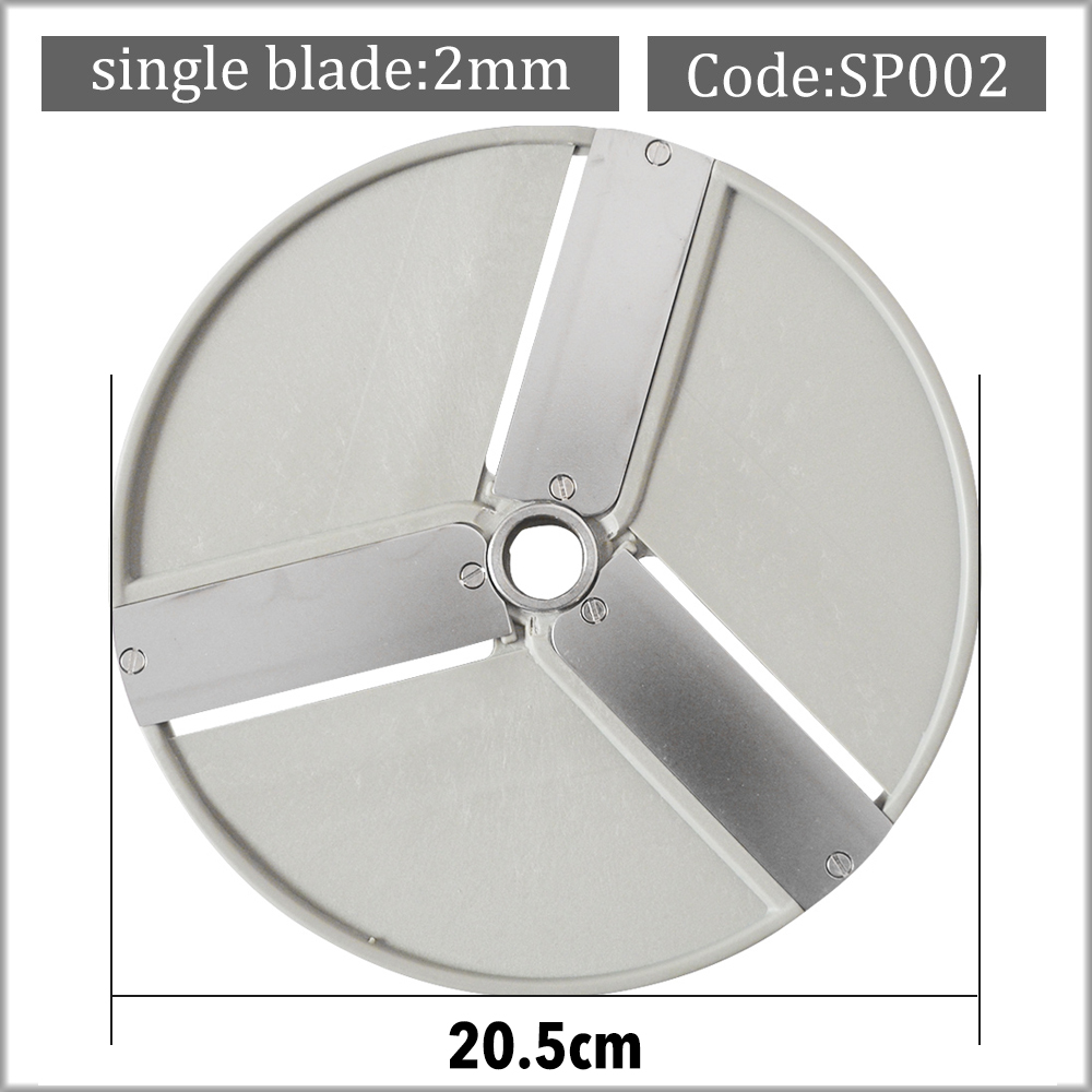 FOOD SLICING DISC PROCESSOR BLADE 2 MM SLICES VEGETABLE CUTTING STAINLESS STEEL