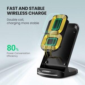 Image 3 - Bezprzewodowa ładowarka UGREEN Qi stojak na iPhone 11 Pro X XS 8 XR Samsung S9 S10 S8 S10E ładowarka do telefonu szybka bezprzewodowa stacja ładująca