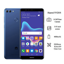 Globale version Huawei Y9 2018 Smartphone 3GB 32GB 5,93 Zoll Kirin 659 Octa Core 16MP Hinten Kamera 4000mAh Android 8,0 Handy