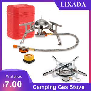 3000W Lixada Outdoor Gas Stove Folding Electronic Gas burner Camping Equipment Gas Stove Cooking Hiking Portable Cookware 캠핑용품