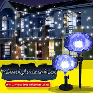 Christmas LED Snowfall Laser Projector Indoor Outdoor Light For Xmas Party Garden Decor With Remote Control Snowfall Light
