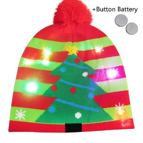Г., 43 дизайна, светодиодный Рождественский головной убор, Шапка-бини, Рождественский Санта-светильник, вязаная шапка для детей и взрослых, для рождественской вечеринки - Цвет: 32