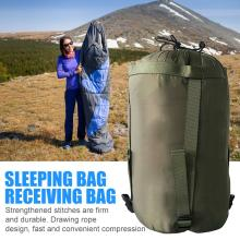 Outdoor Camping Sleeping Bag Compression Pack Leisure Hammock Storage Pack Travel Accessories Army Green