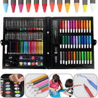 150 pièces/ensemble enfants Art ensembles enfants Kit de dessin couleur de l'eau stylo Crayon huile Pastel peinture outil fournitures papeterie ensemble enfants cadeau