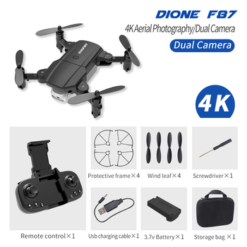 F87 Professional Foldable Drone with Dual Camera FHD-4K OR 200W pixel WiFi FPV LED RC Quadcopter Aerial Photography Aircraft image