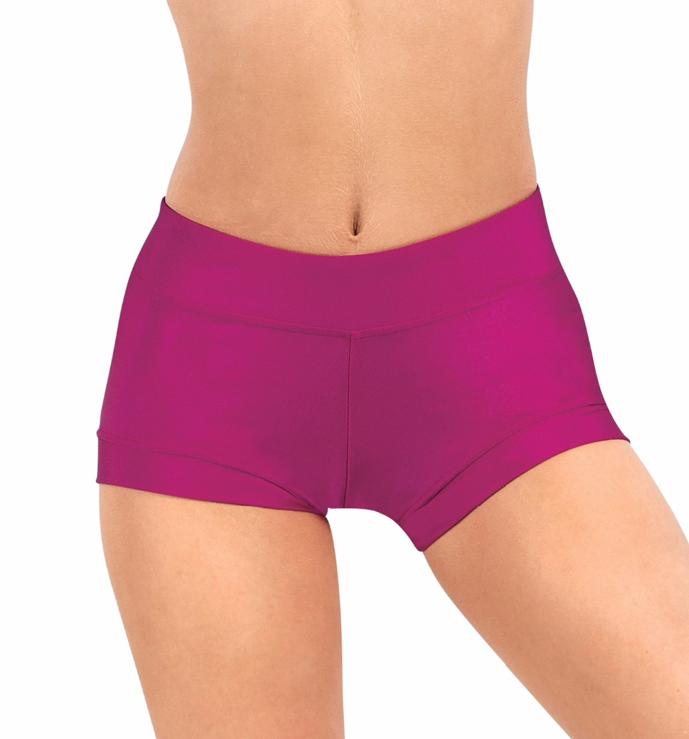 Child Wide Waistband Gymnastics Lycra Ballet Shorts Stretchy Dance Shorts For Team Exercise Shorts