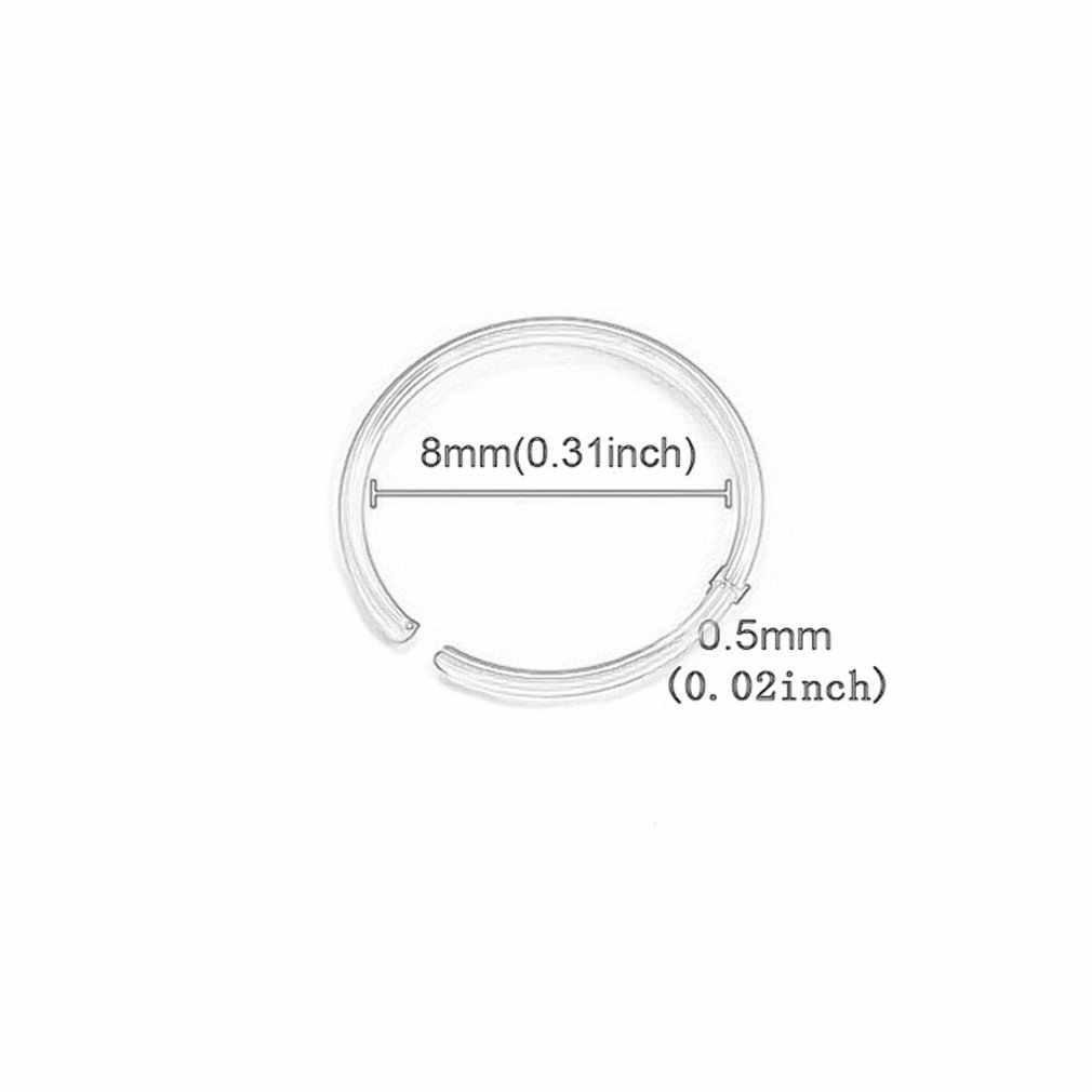 Đồng hồ nam Dây Thép Không Gỉ Hình Tròn Mở Mũi Nhẫn Mũi Đinh Mũi Đinh Đâm Thủng Trang Sức Inox Mũi Nhẫn
