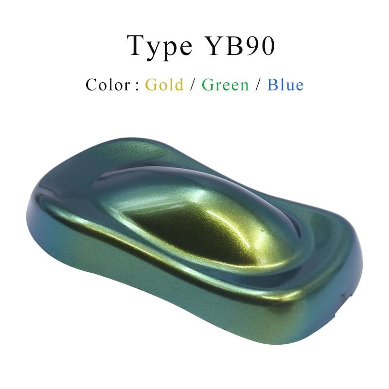 YB90 Chameleon Pigments Acrylic Paint Powder Coating Chrome Pigment Color Flip Powder For Cars Arts Crafts Nails Decoration 10g