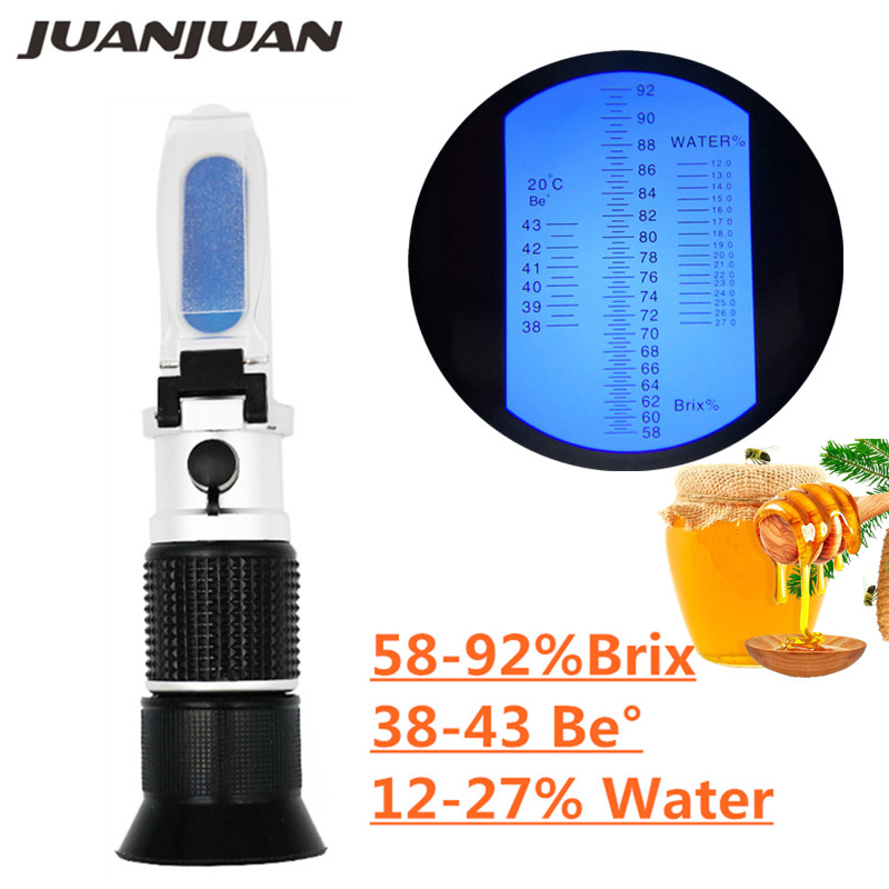 Handheld Refractometer Honey Brix 58-92%(sugar Content)Beekeeping Refraction Honey Concentration Meter With ATC 20% Off