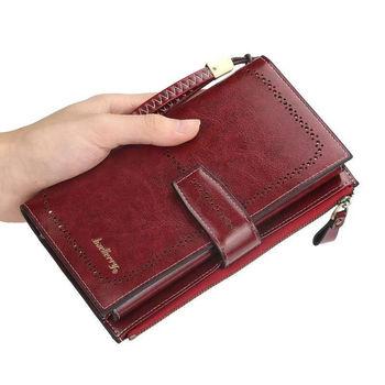 New women's wallet fashion ladies bracelet handbag long wallet wallet ID clip clutch bag ladies wallet wallet notes фото
