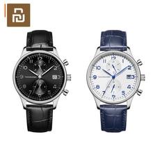 Youpin TwentySeventeen lekki biznes kwarcowy zegarek wysokiej jakości elegancja 2 kolory z bezpłatnym pas ze stali nierdzewnej
