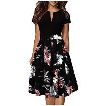 Boêmio splicing vestidos de verão feminino mais tamanho vestido de verão manga curta swing a-line vestido de festa vestidos longos de verao