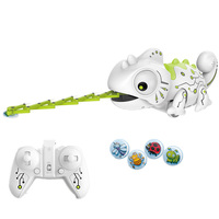 Play Kids Gift Funny Toys Animals Remote Control Food Catching Chameleon Children Educational
