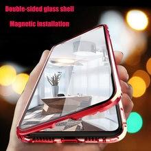 Coque métallique à absorption magnétique 360 pour Xiaomi, compatible modèles Redmi Note 9s, 8, 8T, 7 Pro, 9A, K20, Mi 10, 9T, 10T Pro, Double face