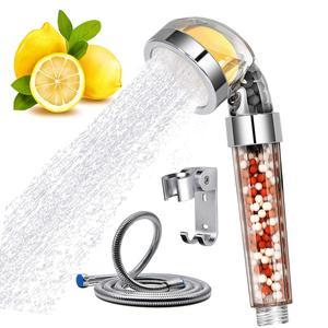 Ręczna głowica prysznicowa witamina C Ionic wysokociśnieniowy filtr prysznicowy Rainfull z wężem zestaw filtrów do zmiękczania twardej wody Showhead