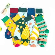 1Pair New Men Women Cotton Socks Casual Colorful Crew Street Skateboard Happy Funny Harajuku Sox Meias
