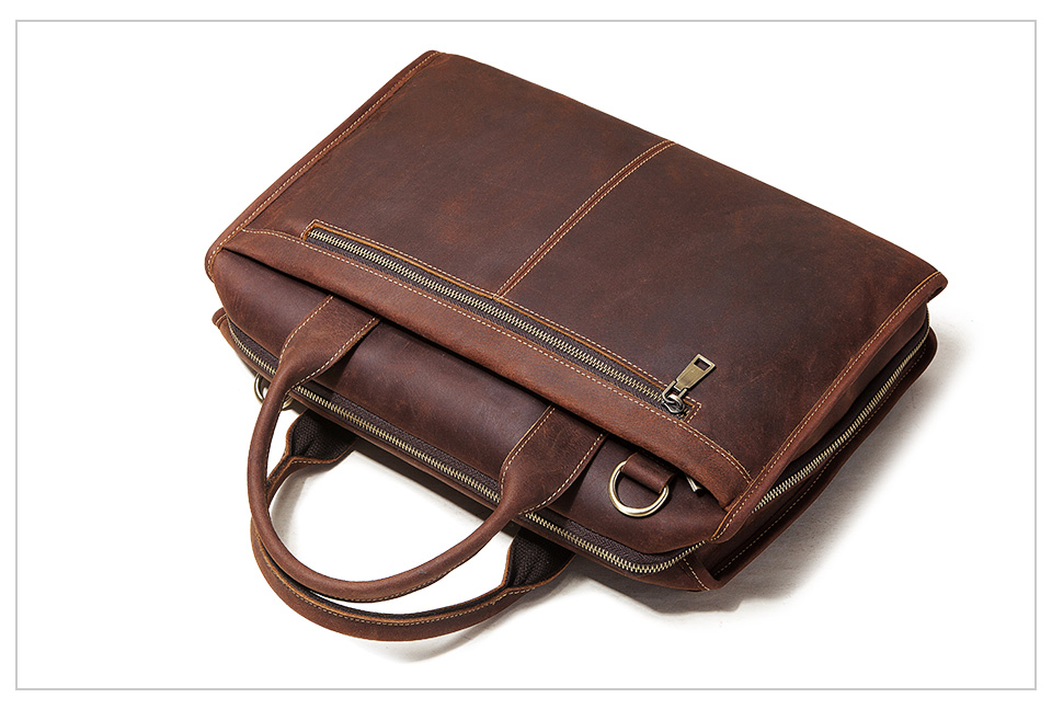 Men Briefcase Bag Leather Comfortable Laptop Handbag 2021 8