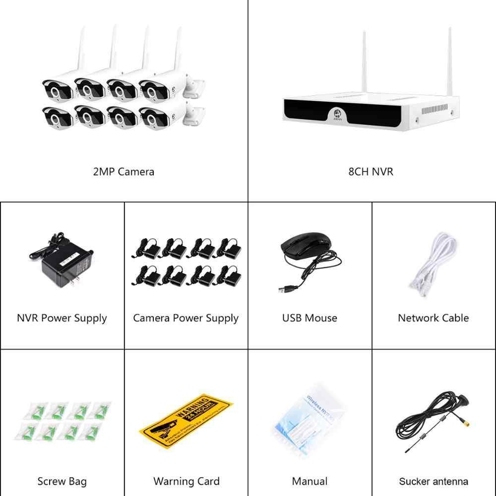 8CH NVR Không Dây Hệ Thống Camera Quan Sát Ghi 1T 2T 3MP IR-CUT Camera IP Ngoài Trời Bộ An Ninh Hệ Thống Hình Ảnh Âm Thanh giám Sát Bộ H.265