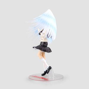 Image 3 - 1/8 21cm New Anime Angel Beats Tenshi Tachibana Kanade White Angels Wings School Uniform Ver PVC Collectible Action Figure Doll