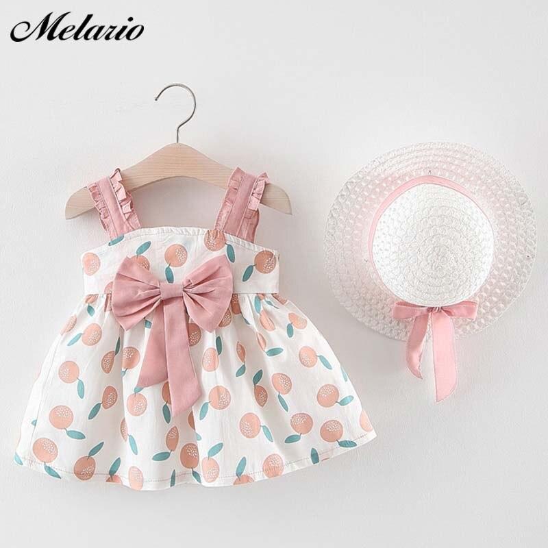 Melario Baby Mädchen Kleidung 2019 Baby Mädchen Kleidung Set Outfit Baby Boho Stil Sommer Strand Outfit Kleiden Tops + Hosen + hut