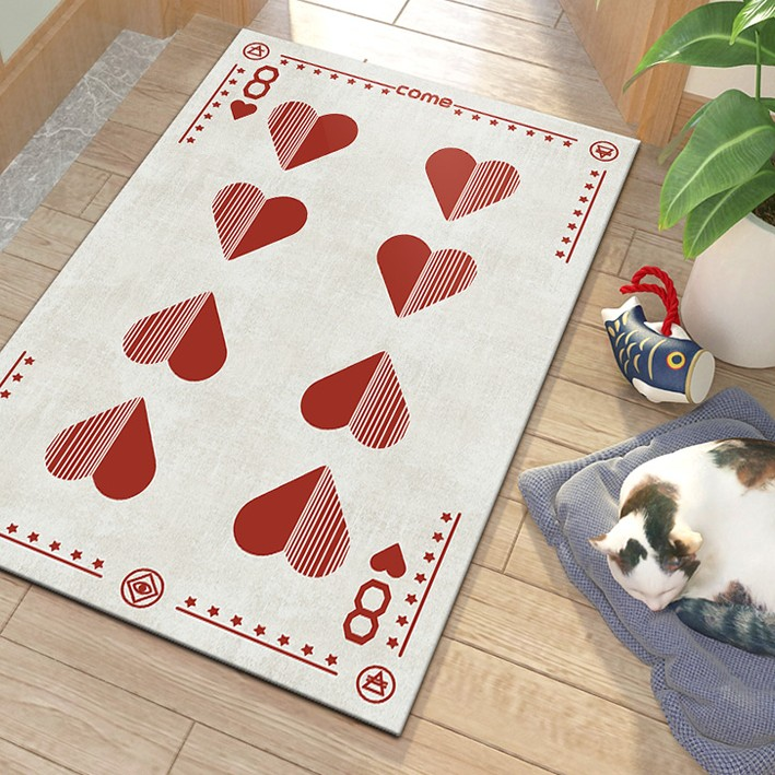 Creative Playing Cards Poker Print Fashion Personality Carpet Rug and Sofa Tide Brand Shop Carpet In The Living Room Bedroom Rug