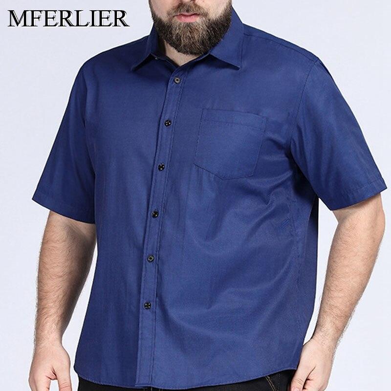 Summer Plus size men shirt 5XL 6XL 7XL 8XL Bust 149cm short sleeve large size men shirts 5 colors