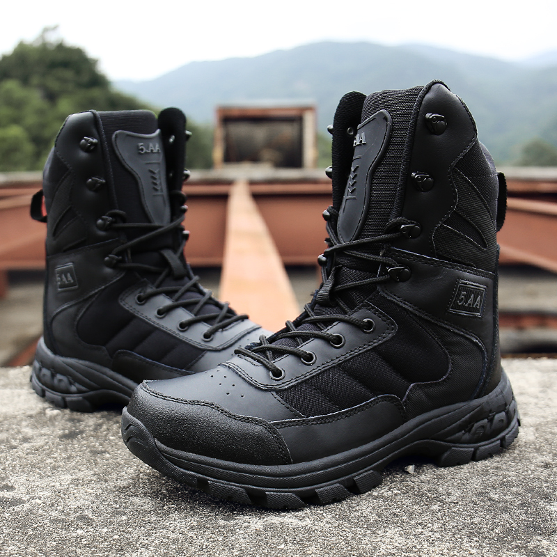 2019 Winter Army Boots Mens Military Desert Boot Shoes Men High Top Breathable Snow Ankle Combat Boots Botas Tacticos Zapatos