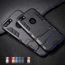 Funda de lujo con soporte para teléfono móvil, carcasa híbrida de TPU + PC duro a prueba de golpes para iPhone 5, 5S, SE, para iphone 7, 8, 6, 6S Plus, X, S, XS