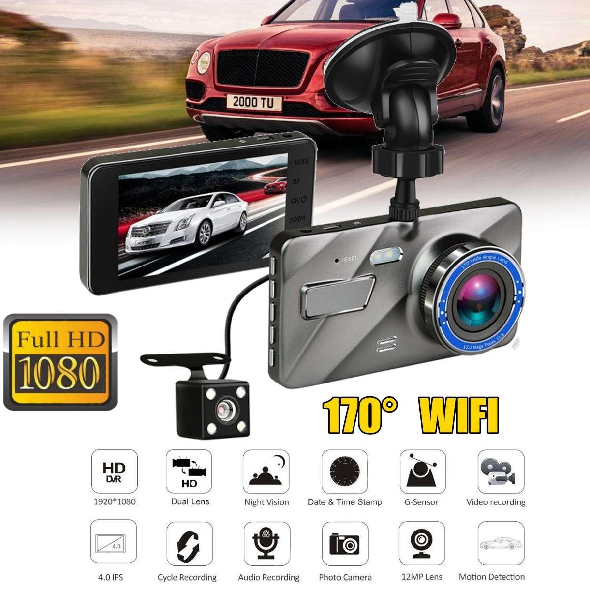 Dash Cam New Dual Lens Car DVR Camera Full HD 1080P  2