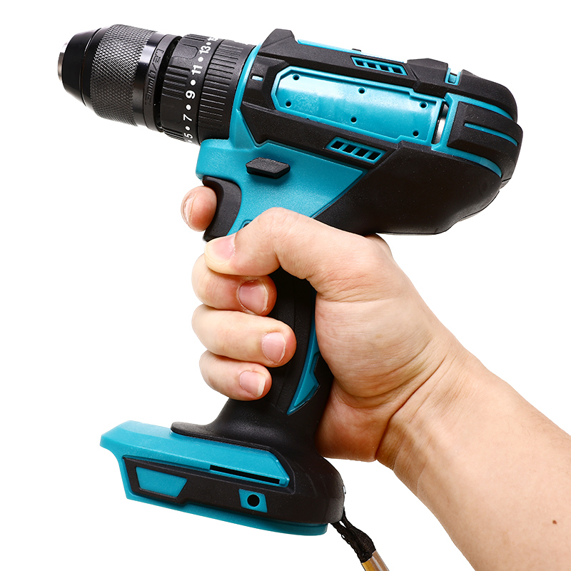 Electric Cordless Impact Drill 18V 3 In 1 Rechargable Electric Screwdriver Drill 13mm For Makita Battery Power Tool