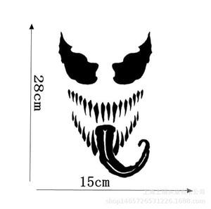 Image 2 - 28CM * 15CM 자동차 스티커 유명한 공포 영화 독 창 PVC 비닐 재미 있은 자동차 스티커 및 Decals 자동차 스타일링