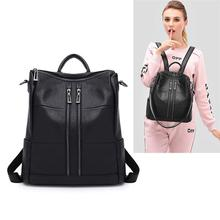 Fashion Backpack for Women Girls Genuine Leather Travel Backpack Cow Leather Leisure Shoulder Bags
