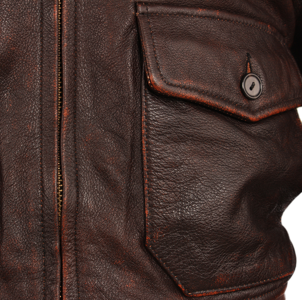 Hd95e230e00404bba8d51b74ccfd48d08L Vintage Distressed Men Leather Jacket Quilted Fur Collar 100% Calfskin Flight Jacket Men's Leather Jacket Man Winter Coat M253