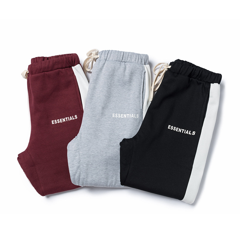 Lawfoo  Autumn And Winter New Products Europe And America Popular Brand Fog Vice Line Retro Sports Men's Casual Sweater Pant