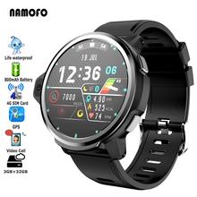 32GB ROM 3GB RAM 4G Smartwatch GPS 500W kamera wideo MT6739 Quadcore 1 25GHz 800mAh sport Tracker pasek silikonowy Smartwatch tanie tanio ALLCALL CN (pochodzenie) Android OS Na nadgarstku Wszystko kompatybilny 32 gb Passometer Wiadomość przypomnienie Przypomnienie połączeń