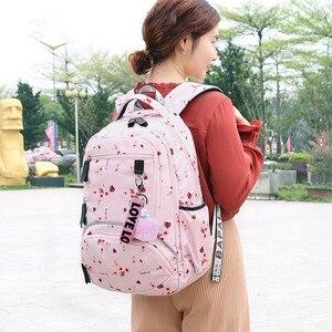 Image 5 - Fengdong Koreaanse Sytle Kinderen School Rugzak Kids Book Bag School Tassen Voor Meisjes Waterdichte Laptop Rugzak Vrouwelijke Rugzak