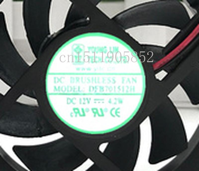 Free Shipping DFB701512H DC 12V 4.2W 70x70x15mm