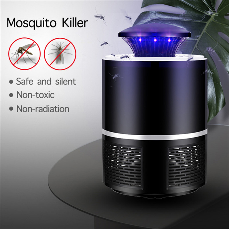 Hiyork Mosquito Killer Mosquito Lamp USB Power Photocatalysis Mute Radiationless Insect Killer Flies Trap Lamp Suitable For Baby