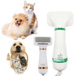 2-In-1 Portable Dog Dryer Dog Hair Dryer And Comb Brush Pet Grooming Cat Hair Comb Dog Fur Blower Low Noise Grooming Tools